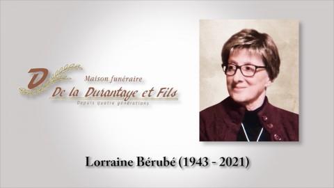Lorraine Bérubé (1943 - 2021)