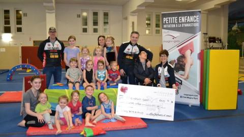 Les Enfants d'cœur font un don à Magny-Gym