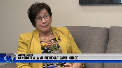 Entrevue - Jocelyne Caron, candidate à la mairie de Cap-Saint-Ignace - 26 octobre 2021