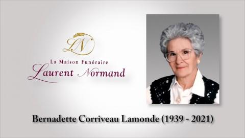 Bernadette Corriveau Lamonde (1939 - 2021)
