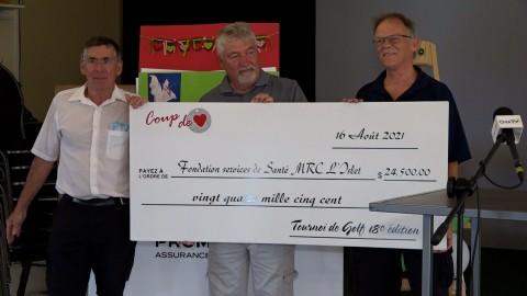 Un montant de 24500 $ amassé pour la Fondation des Services de santé de la MRC de L'Islet