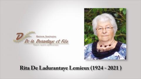Rita De Ladurantaye Lemieux (1924 - 2021)