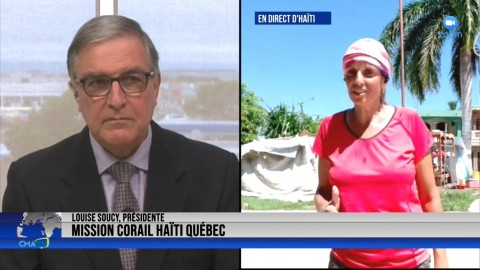 Entrevue - Louise Soucy, EN DIRECT de Corail, Haïti - 27 septembre 2021