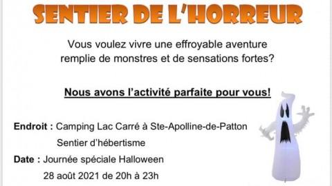 Un sentier de l'horreur au Centre Plein-Air de Sainte-Apolline-de-Patton