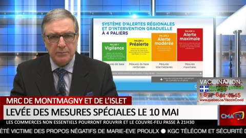 Bonjour Côte-du-Sud - Mercredi 5 mai 2021