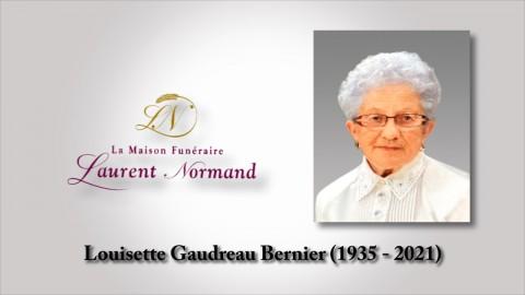 Louisette Gaudreau Bernier (1935 - 2021)