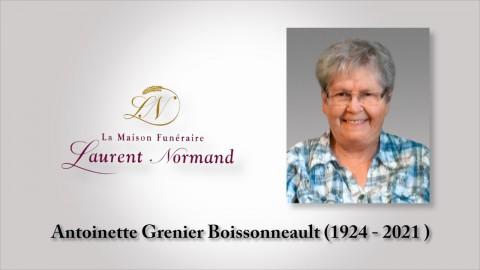Antoinette Grenier Boissonneault (1924 - 2021)