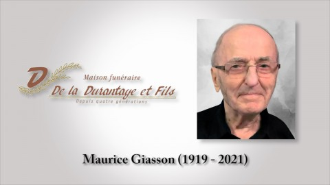 Maurice Giasson (1919 - 2021)