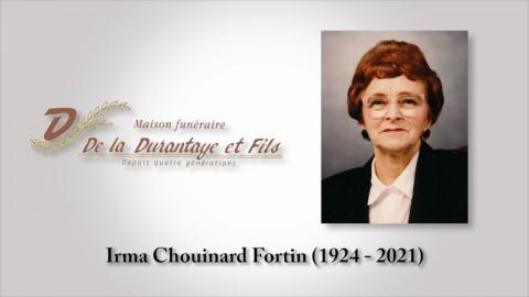 Irma Chouinard Fortin (1924 - 2021)