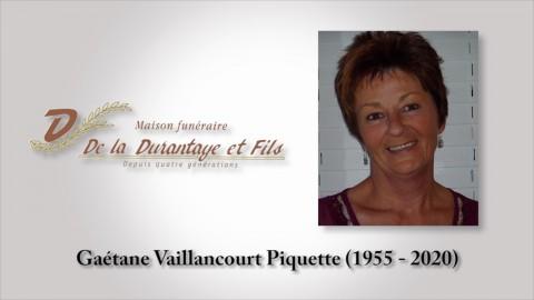 Gaétane Vaillancourt Piquette (1955 - 2020)