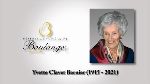 Yvette Clavet Bernier (1915 - 2021)