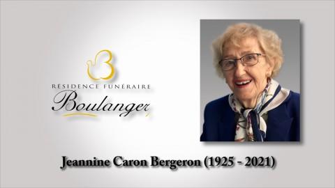 Jeannine Caron Bergeron (1925 - 2021)