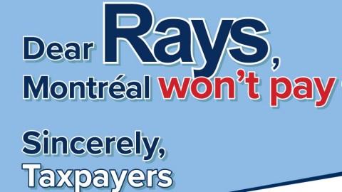 Les contribuables québécois disent non au nouveau stade de baseball