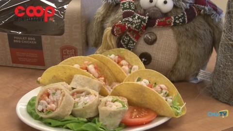 Chronique culinaire Magasin Coop IGA - Tacos aux crevettes - 3 décembre 2020