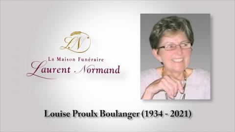 Louise Proulx Boulanger (1934 - 2021)