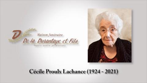Cécile Proulx Lachance (1924 - 2021)
