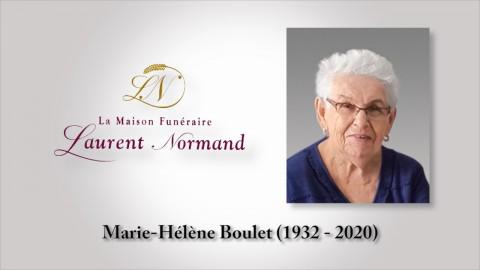 Marie-Hélène Boulet (1932 - 2020)