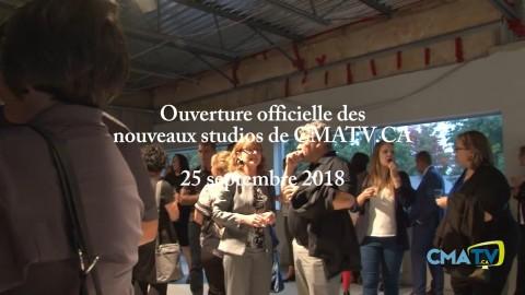 Ouverture officielle des nouveaux studios cmatv 25 septembre 2018