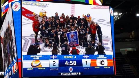Les Alliés sont les champions du Tournoi Pee-wee de Québec dans la catégorie Inter-B