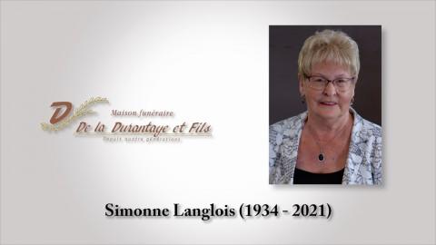 Simonne Langlois (1934 - 2021)
