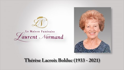 Thérèse Lacroix Bolduc (1933-2021)