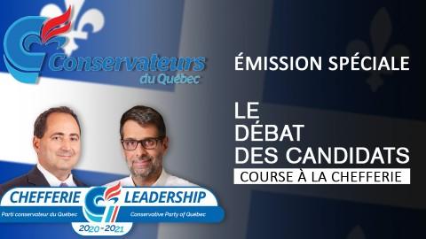 Débat des candidats du Parti conservateur du Québec - le 2 mars 2021