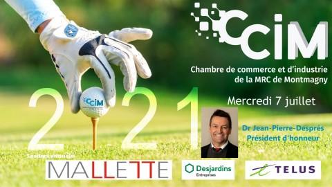 Le Dr Jean-Pierre Després est le Président d'honneur de la 27e édition du tournoi de golf annuel de la CCIM
