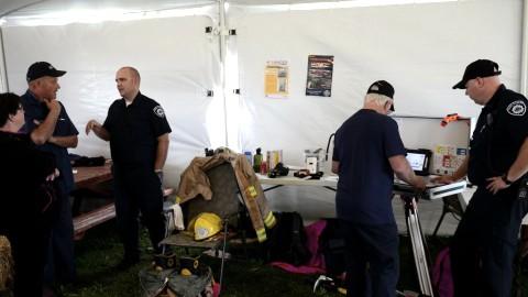 Les pompiers de Saint-Pascal visite une ferme de Saint-Hélène-de-Kamouraska