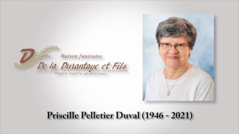 Priscille Pelletier Duval (1946 - 2021)