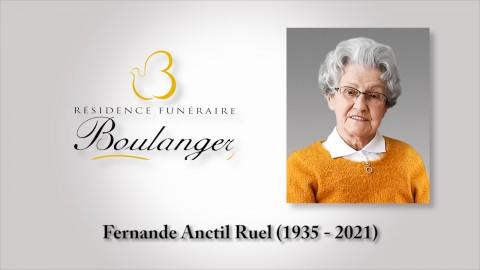 Fernande Anctil Ruel (1935 - 2021)