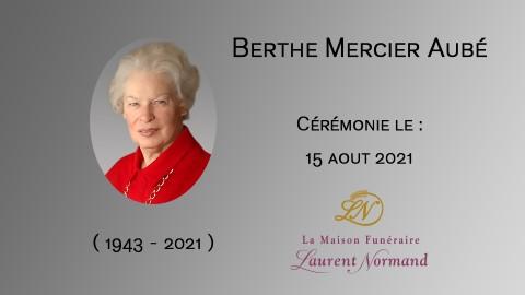 Berthe Mercier Aubé