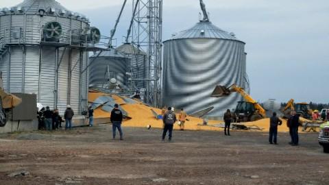 Un silo à grain s'effondre à Montmagny-un homme dans la quarantaine est retrouvé inanimé