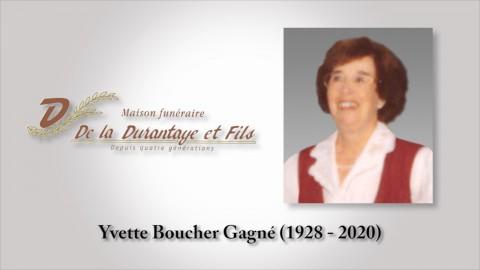 Yvette Boucher Gagné (1928 - 2020)