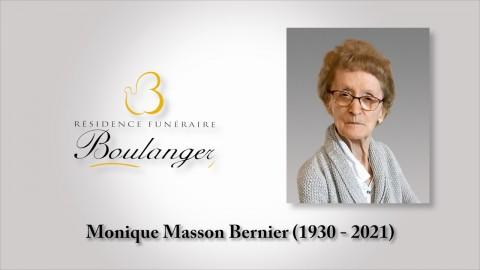Monique Masson Bernier (1930 - 2021)