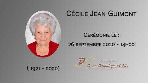 Cécile Jean Guimont
