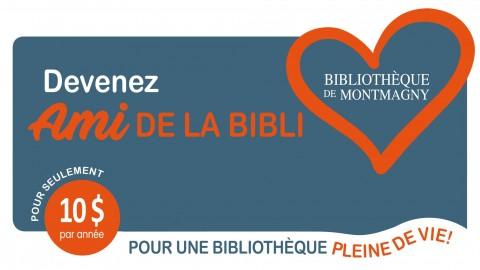 La Bibliothèque de Montmagny souhaite atteindre les 375 AMIS DE LA BIBLI