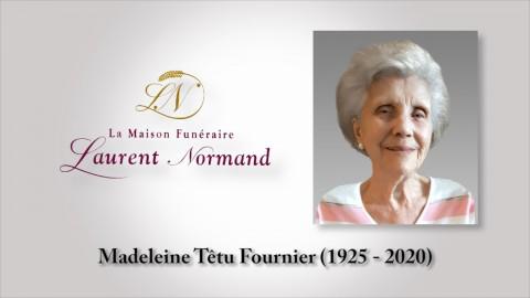 Madeleine Têtu Fournier (1925 - 2020)