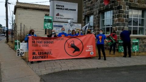 Manifestation à Montmagny de la CSN dans la cadre des négociations du secteur public