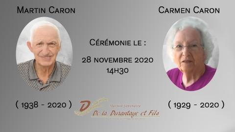Martin et Carmen Caron