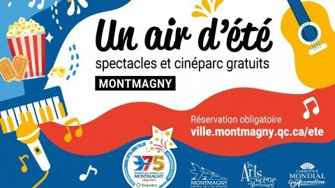 Des spectacles extérieurs et du cinéparc gratuits cet été à Montmagny!