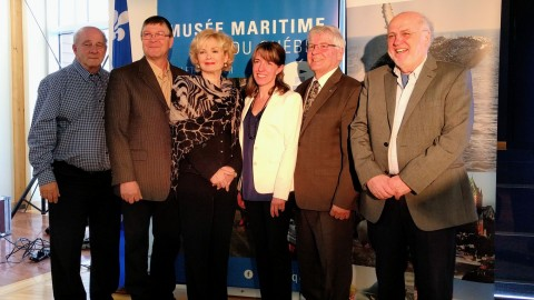 La ministre Julie Boulet annonce 391 000 $ au Musée maritime du Québec et choisit l'Auberge des Glacis pour annoncer l'attribution d'une aide financière de 150 000 $ à l'Association Hôtellerie Québec