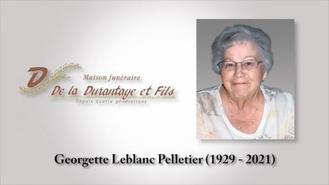 Georgette LeBlanc Pelletier (1929 - 2021)