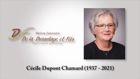 Cécile Dupont Chamard (1937 - 2021)