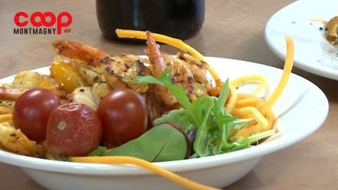 Chronique culinaire Magasin Coop IGA - Crevettes au citron, fines herbes et poivron doux - 14 janvier 2021