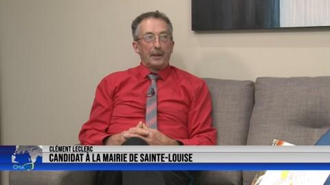 Entrevue - Clément Leclerc, candidat à la mairie de Sainte-Louise - 22 octobre 2021