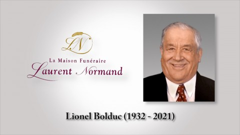 Lionel Bolduc (1932 - 2021)