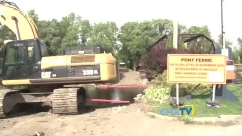 Reportage : Le pont du parc Saint Nicolas semble prêt à être peinturé