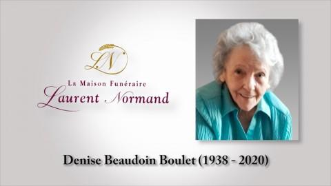 Denise Beaudoin Boulet (1938 - 2020)