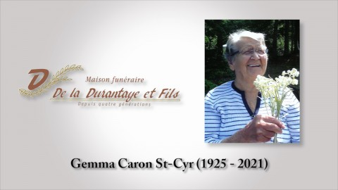 Gemma Caron St-Cyr (1925 - 2021)