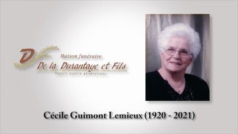 Cécile Guimont Lemieux (1920 - 2021)